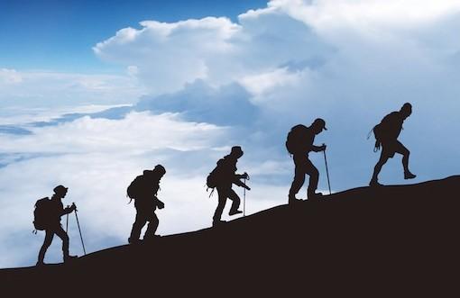 小さな成功の登山画像